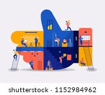 illustrations flat design... | Shutterstock .eps vector #1152984962