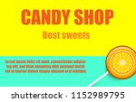 candy shop  best sweets. yellow ... | Shutterstock .eps vector #1152989795