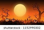 halloween website banner...   Shutterstock .eps vector #1152990302
