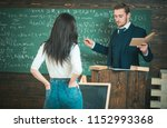 confident professor giving... | Shutterstock . vector #1152993368