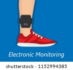 electronic monitoring device | Shutterstock .eps vector #1152994385