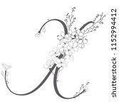 vector hand drawn flowered x... | Shutterstock .eps vector #1152994412