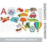 illustrated abc  letter a ... | Shutterstock .eps vector #1152996932