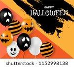 happy halloween . design with... | Shutterstock .eps vector #1152998138