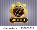 gold emblem with paper clip... | Shutterstock .eps vector #1153003718