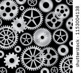 metallic gears on black... | Shutterstock .eps vector #1153004138