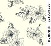 vector vintage seamless pattern ... | Shutterstock .eps vector #1153008218