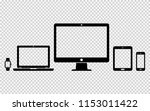 set of digital devices icons on ... | Shutterstock .eps vector #1153011422