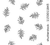 vector seamless pattern with... | Shutterstock .eps vector #1153011845