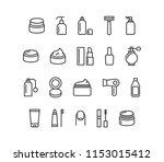 set cosmetics icons editable... | Shutterstock .eps vector #1153015412