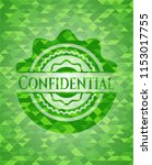 confidential realistic green... | Shutterstock .eps vector #1153017755