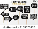 funny wedding photobooth props... | Shutterstock .eps vector #1153020332