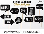 funny wedding photobooth props... | Shutterstock .eps vector #1153020338