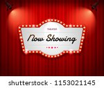 theater sign on curtain   Shutterstock .eps vector #1153021145