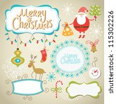 set of christmas and new year... | Shutterstock .eps vector #115302226