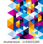 multicolored triangles abstract ... | Shutterstock .eps vector #1153022285