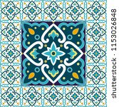 spanish tile pattern floor... | Shutterstock .eps vector #1153026848