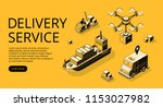 delivery service transport... | Shutterstock .eps vector #1153027982