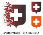 vector medical shield icon in...   Shutterstock .eps vector #1153028315
