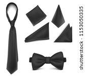 vector. mock up. black set... | Shutterstock .eps vector #1153050335