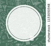 back to school sale flyer card. ... | Shutterstock . vector #1153050548