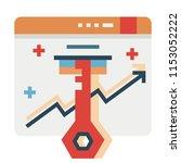 keyword vector illustration in... | Shutterstock .eps vector #1153052222