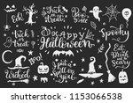 happy halloween party vector... | Shutterstock .eps vector #1153066538