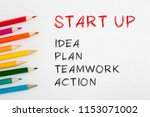 start up written on a white... | Shutterstock . vector #1153071002