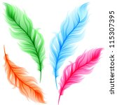set of colorful transparent... | Shutterstock .eps vector #115307395
