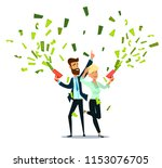 successful businessman and... | Shutterstock .eps vector #1153076705