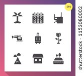modern  simple vector icon set... | Shutterstock .eps vector #1153080002