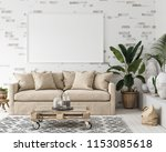 mock up frame in interior... | Shutterstock . vector #1153085618