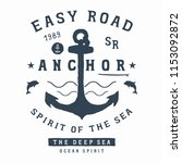 old anchor with waves and...   Shutterstock .eps vector #1153092872