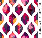 template seamless geometric... | Shutterstock .eps vector #1153095158