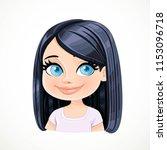 beautiful pleased cartoon... | Shutterstock .eps vector #1153096718