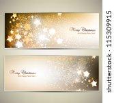 set of elegant christmas... | Shutterstock .eps vector #115309915