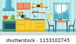 vector illustration of kitchen... | Shutterstock .eps vector #1153102745
