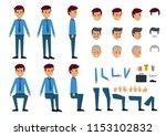 cartoon of businessman with... | Shutterstock .eps vector #1153102832