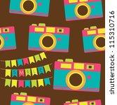 cute photography pattern design....   Shutterstock .eps vector #115310716