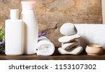 spa oil. spa concept. | Shutterstock . vector #1153107302