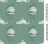 huge hamburger and fat cat...   Shutterstock .eps vector #1153109315