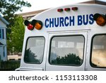 """church bus"" wording on back of ... 