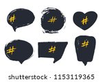 set of empty bubble banners... | Shutterstock .eps vector #1153119365