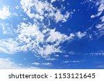 cloudy sky background | Shutterstock . vector #1153121645