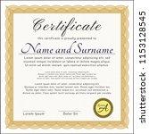 orange certificate. with... | Shutterstock .eps vector #1153128545