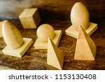 solid wood shapes to study... | Shutterstock . vector #1153130408