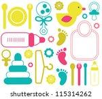 baby seamless pattern. vector... | Shutterstock .eps vector #115314262