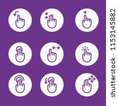 simple set of gestures vector... | Shutterstock .eps vector #1153145882