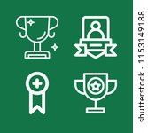 outline set of 4 award icons... | Shutterstock .eps vector #1153149188