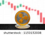 ripple xrp on cryptocurrency... | Shutterstock . vector #1153152038